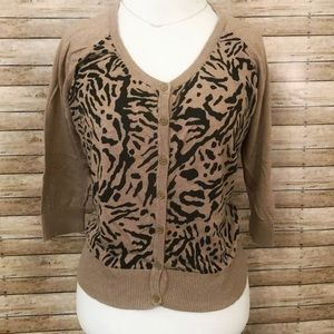 Worthington leopard print lightweight cardigan